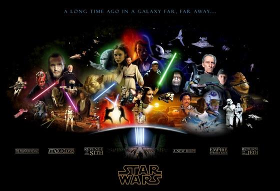 A Star Wars sorozatot összefoglaló plakát