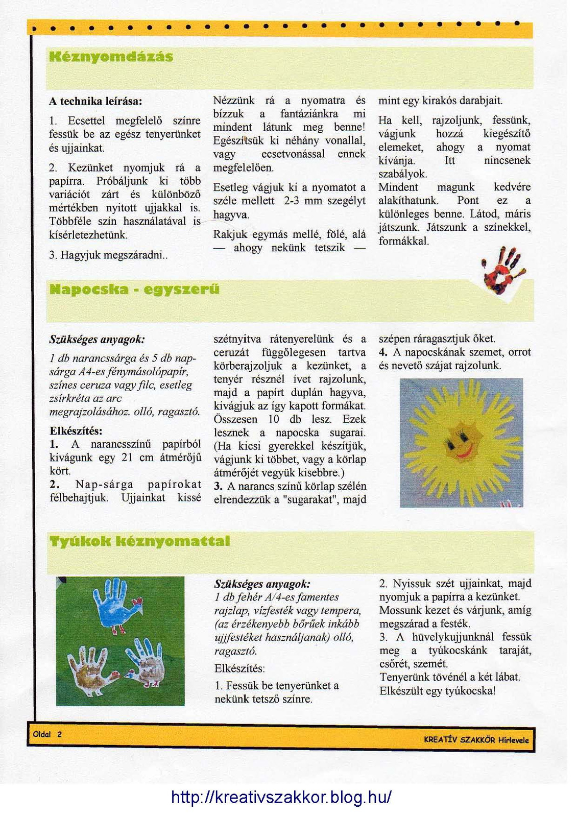 B.B.M: KREATÍV SZAKKÖR Hírlevele 1-1 Page 2