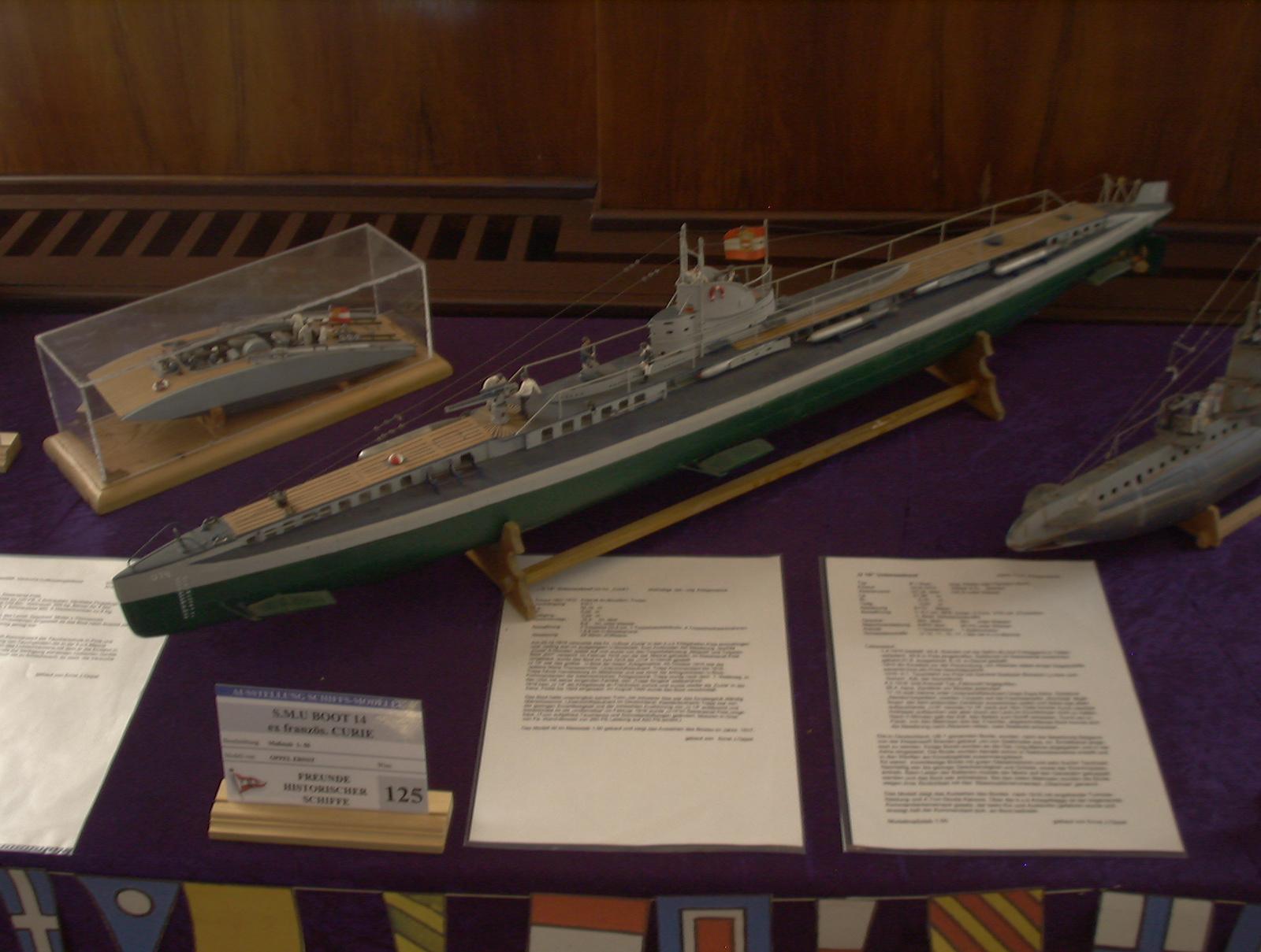 U14 (ex-Curie) tengeralattjáró M=1:200