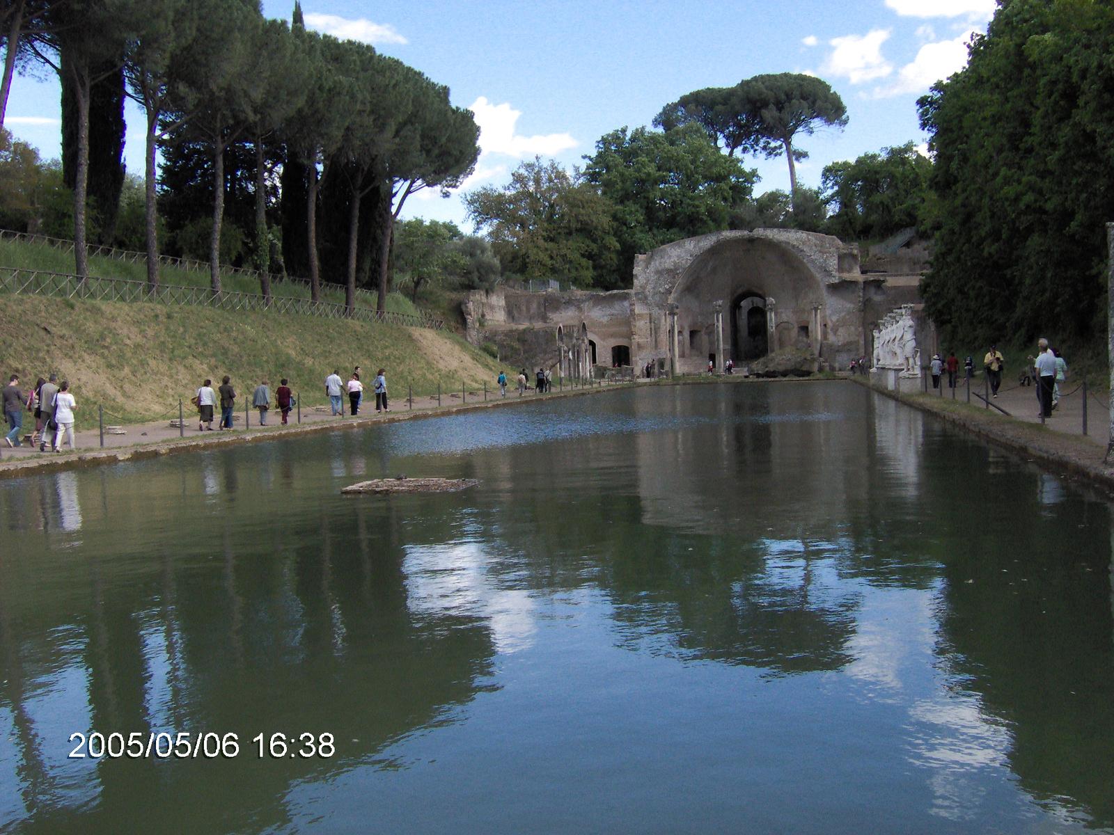 Tivoli Hadrianus császár palotájának kertje