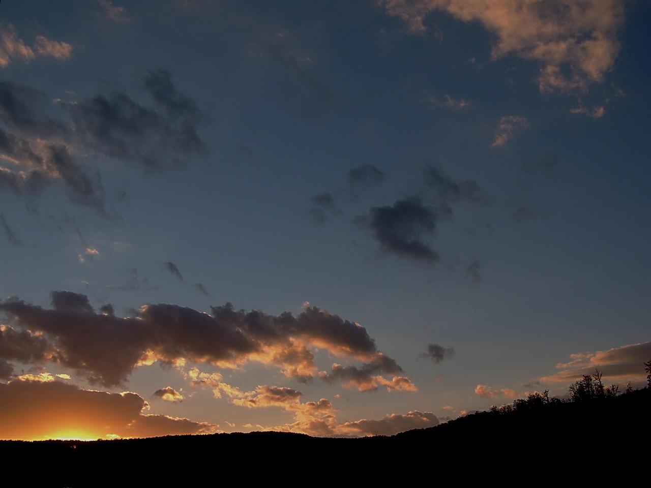 égi fények, elmenőben a Nap